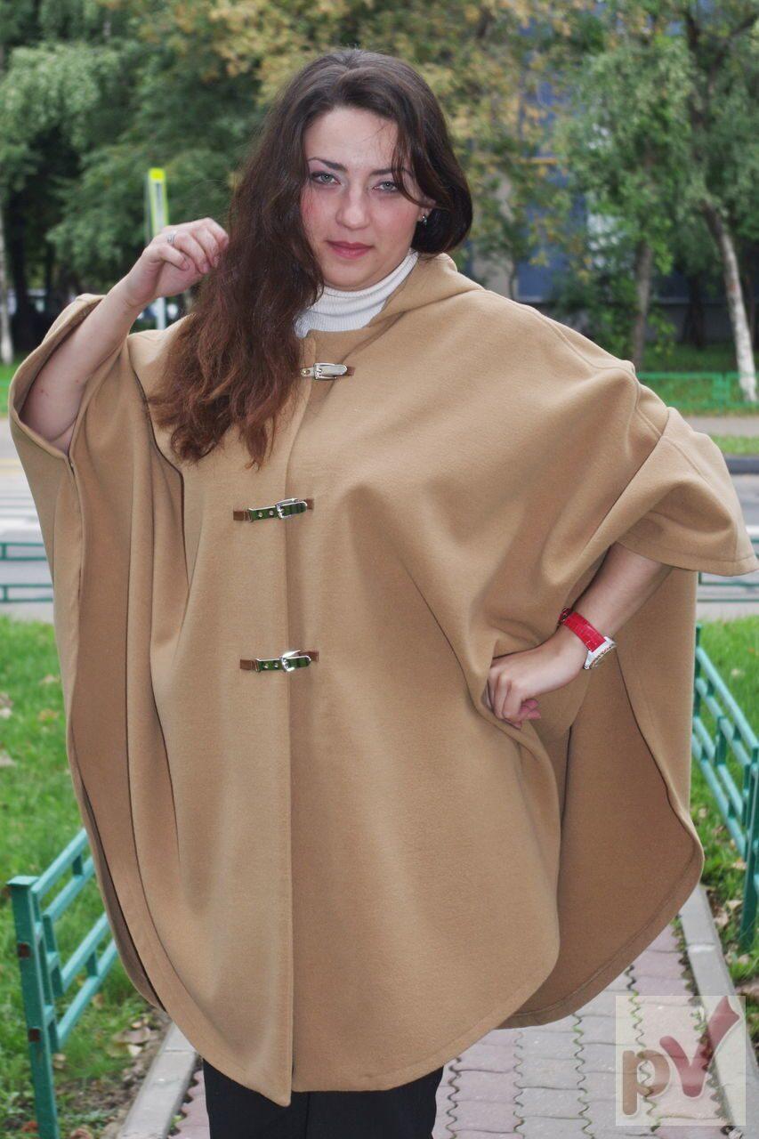 Пальто пончо: выбираем фасон и учимся шить своими руками 18
